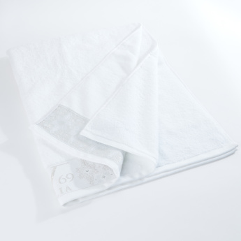 19V69 Embroidered Bath Sheet - 86x150 cms