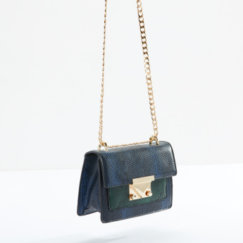 Charlotte Reid Satchel Bag with Metaillic Chain