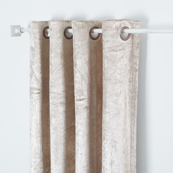 Stripe Textured Curtain Pair with Eyelets - 140x260 cms