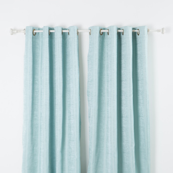 Palome Textured Curtain Pair with Lining - 135x260 cms