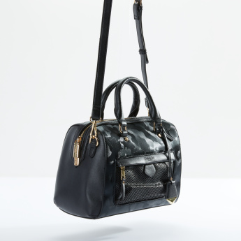 Charlotte Reid Textured Handbag with Zip Closure