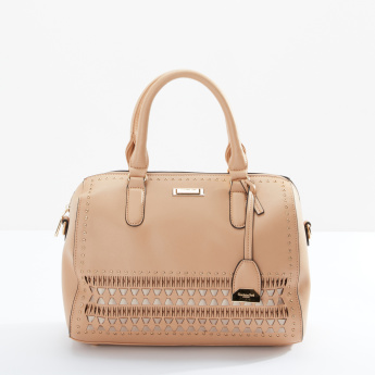 Charlotte Reid Embellished Duffle Bag with Zip Closure