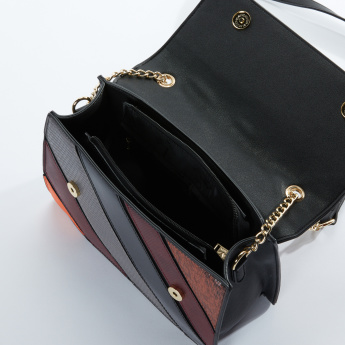 19V69 Textured Satchel Bag with Magnetic Snap Closure
