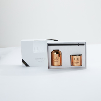 Elle Vanilla Monoi Diffuser and Candle Gift Set