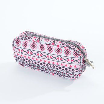 J World Printed Pencil Case with Zip Closure
