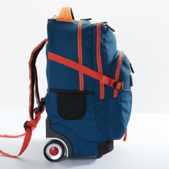 J World Trolley Backpack with Zip Closure