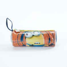 Minions Printed Round Pencil Case with Zip Closure