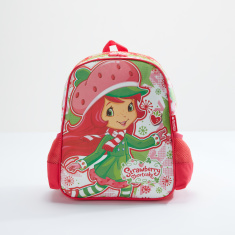 Strawberry Shortcake Printed Backpack with Zip Closure