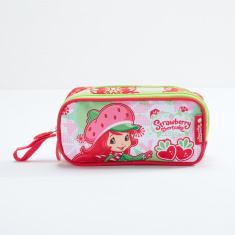 Strawberry Shortcake Printed Pencil Case with Zip Closure