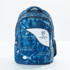 Sportandem Champions League Printed Backpack with Zip Closure
