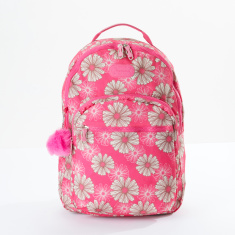 Sensazioni Printed Backpack with Zip Closure and Adjustable Straps
