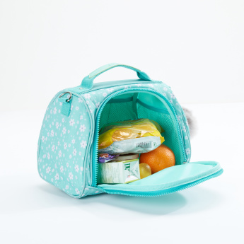 Sensazioni Printed Lunch Bag with Zip Closure and Adjustable Strap