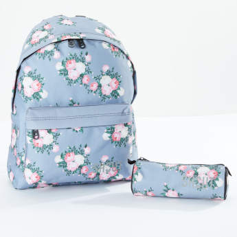 SHOUT Printed Backpack and Pouch Set