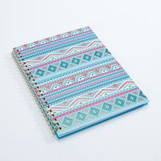J World Printed A4 Spiral Bound Notebook