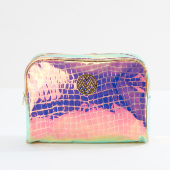 Macbeth Printed Cosmetics Pouch with Zip Closure