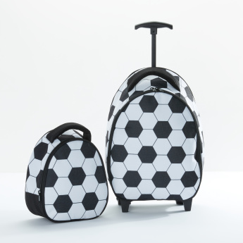 Football Printed Lunch Bag with Zip Closure