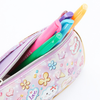 Minmie Printed Pencil Case with Zip Closure