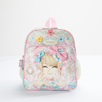 Mimmie Printed Backpack with Zip Closure