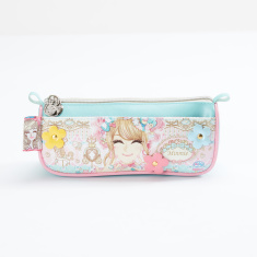 Mimmie Printed Pencil Case with Zip Closure