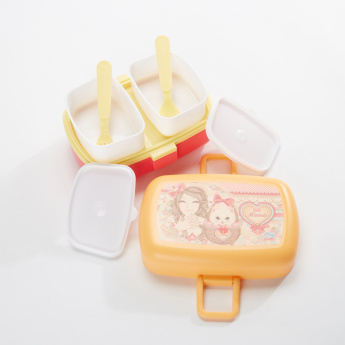 Minmie Printed 2-Tier Lunch Box
