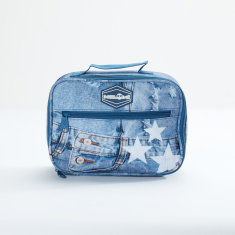 Ne.On Denim Lunch Bag with Zip Closure