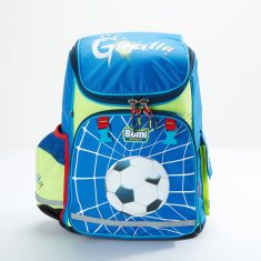 Bomi Printed Backpack with Zip Closure