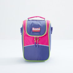 Bomi Lunch Bag with Zip Closure and Adjustable Strap