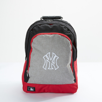 New York Yankees Printed Backpack with Zip Closure