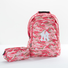 New York Yankees Camouflage Printed Backpack with Pencil Case