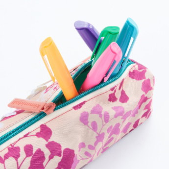 Kimmi Printed Pencil Case with Zip Closure