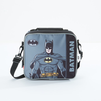 Batman Printed Lunch Bag with Zip Closure and Adjustable Strap
