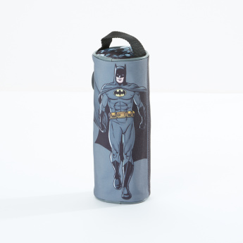 Batman Printed Round Pencil Case with Zip Closure