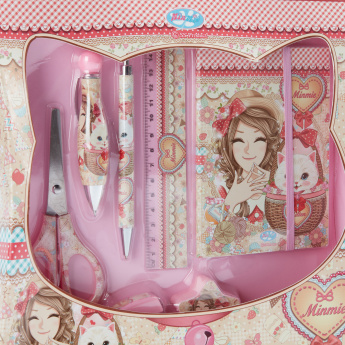Minmie Butterfly Printed 6-Piece Stationery Set