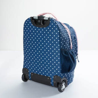 Printed Trolley Backpack with Lunch Bag and Pencil Case