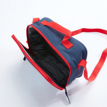 Captain America Printed Lunch Bag with Zip Closure and Long Strap