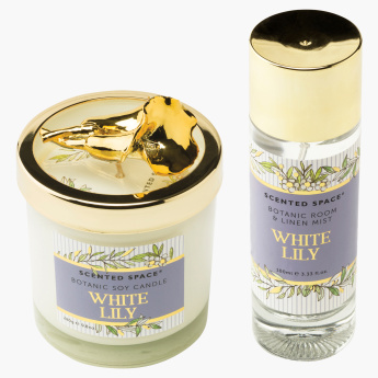 Scented Space White Lily Soy Candle with Lid