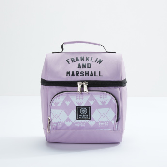 Franklin & Marshall Printed Lunch Bag with Zip Closure