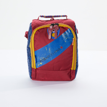 4c119ec7140 FC Barcelona Printed Lunch Bag with Zip Closure and Adjustable Strap ...