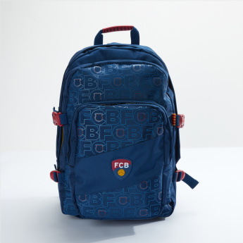 d7eb4dbaedc FC Barcelona Printed Backpack with Zip Closure