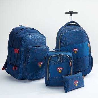 FCB Printed Trolley Backpack with Zip Closure
