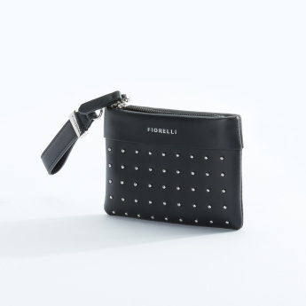 Fiorelli Studded Pouch with Zip Closure