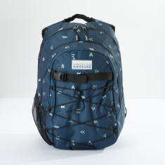 Awesome Printed Backpack with Zip Closure