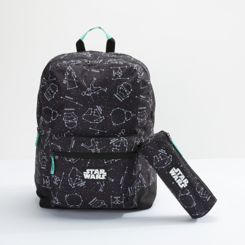 Star Wars Printed Round Pencil Case with Zip  Closure
