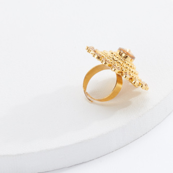 Sasha Studded Adjustable Ring