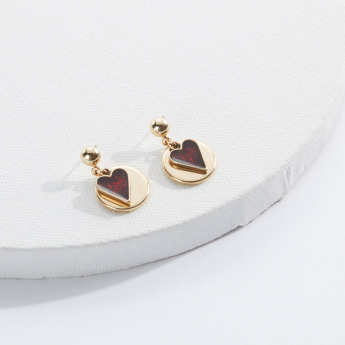 Sasha Earrings with Heart Design and Push Back Closure