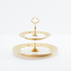 Decorative Multi-Tier Serving Plate with Handle