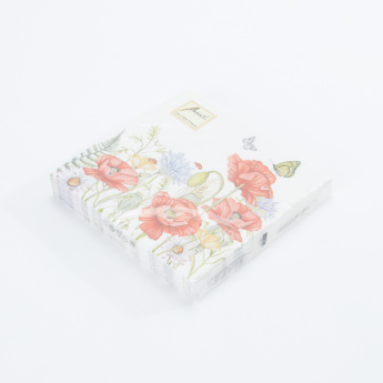 Ambiente Floral Print Disposable Napkin Set