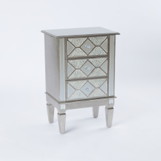 Embellished 3-Drawer Chest of Drawers