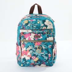 Sakroots Printed Backpack with Zip Closure