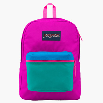 Jansport Textured Backpack with Zip Closure
